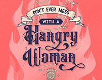 Hangry Woman Lettering