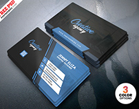 Creative Personal Business Card PSD Template
