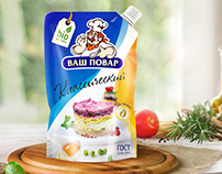 Mayonnaise packaging design | Дизайн упаковки майонеза