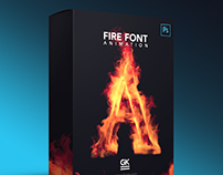 Fire Font / Letter animation for Photoshop and AE