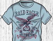 BALD EAGLE T-SHIRT PRINT DESIGNS