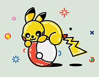 Free vector illustration Pikachu from Pokemon GO