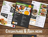 Additional menu pages for Bora Bora Cafe