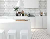 Ultra White Kitchen
