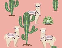 Alpaca with Cacti