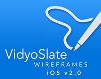 VidyoSlate: Wireframes iOS v2.0