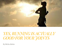 Running is Good for Your Joints