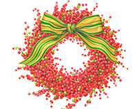Berries and Bow for Caspari