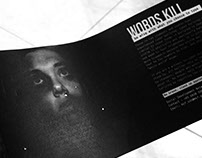 Direct Mailer – Words Kill