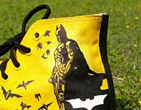 I Batman I Hand Painted Shoes I