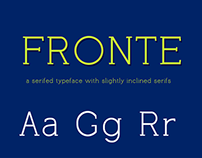 Fronte Typeface