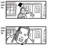 Welcome Home feature storyboards.