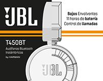 Instructivo de Audífonos JBL T450BT