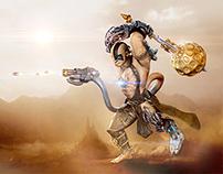 HANGBORG - A Cyborg Hanuman