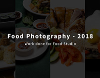 Food Photography - 2018 - Work done for Food Studio