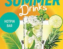 Summer Drinks Promotion Flyer Template