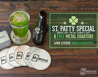 FREE Custom Metal Coasters for St. Patrick's Day!