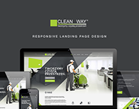 CleanWay: responsive landing page design