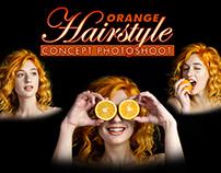 Orange Hairstyle - Concept Photoshoot