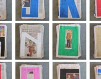 Experimentation typographique - Journal Le Soir