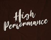 High Perfomance - Brush Font