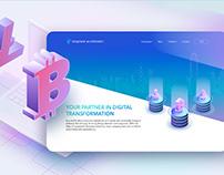 BlockchainFintech Startup Landing Page