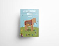 """""""56. Uluslararası Troia Festivali"""" Poster Design"""