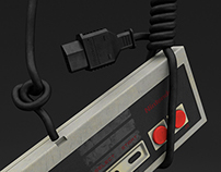 Beaten NES Controller