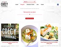 Web design | Restaurant Crecy L'original