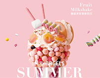 N.Y. Bagels SUMMER HEART|夏季飲品形象海報