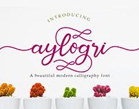Aylogri Modern Calligraphy Font
