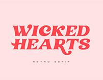 Wicked Hearts Retro Serif