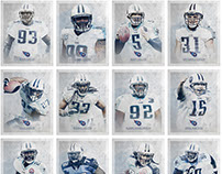Tennessee Titans Pro Bowl Portraits