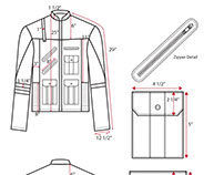 Men's Jacket Technical Sketches