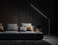 Lumeline lamps 3D Renderings