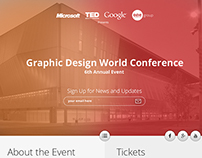 Graphic Design Conference website