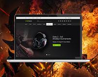 UI/UX GAMEBattle website, cybersport