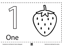 Coloring Book English Numbers