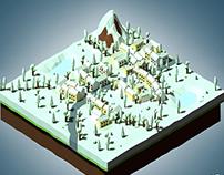 Village Isometric Winter