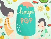Mural for Honger Pop cafe Malang