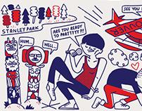 CITIx60 City Guide —Vancouver (illustrations)