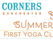 Four Corner Yoga Summer Flyer + Newspaper Ad