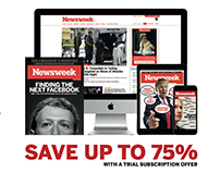 Newsweek - Full page subscriptions print advert