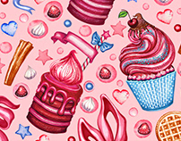 Illustrations for a cake shop
