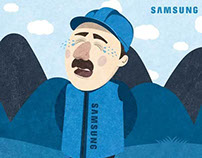 Samsung Twitter page illustration