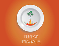 Punjbi masala logo design