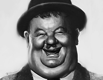 Oliver Hardy Caricature