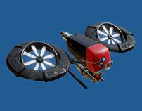 CyberPunk Drone Concept Design