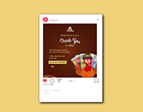 Thanksgiving & Black Friday Campaign - Omay Foods