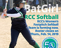 Poster set to promote softball team at Rappahannock CC